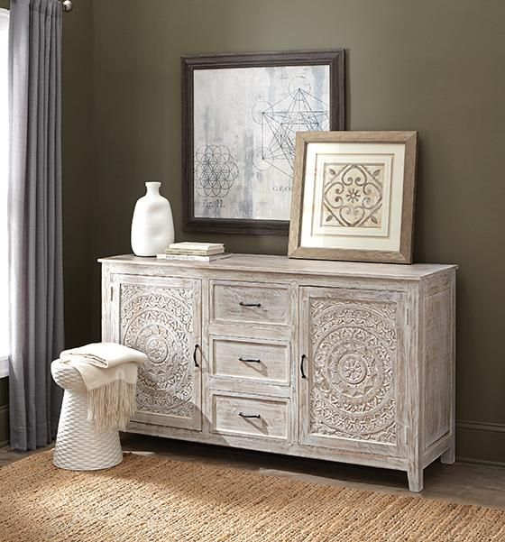 Home Decorators Collection Chennai 3 Drawer White Wash Dresser 9468000410 Decor Home Decor Vintage Hand Painted Furniture