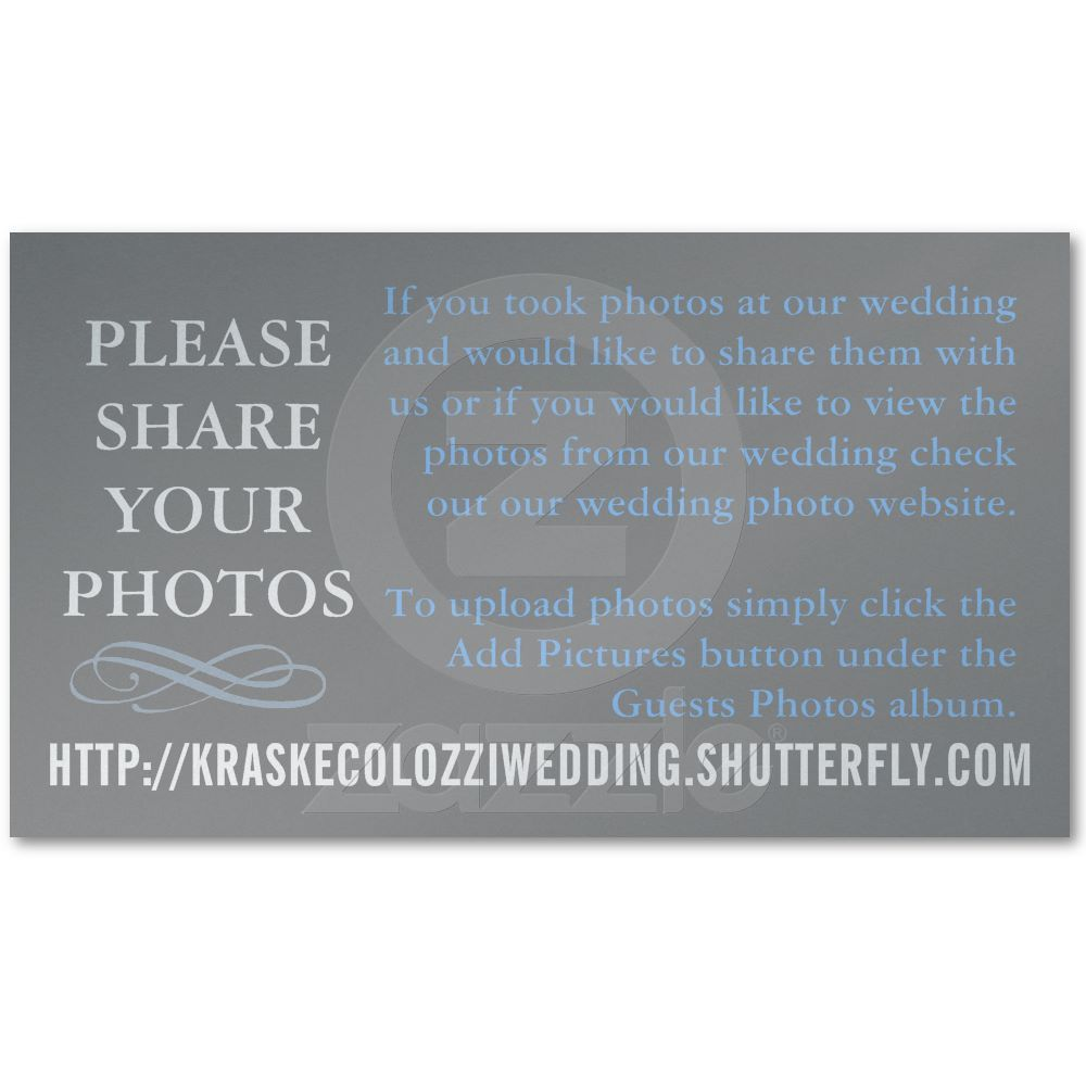 Wedding Photo Sharing Card Business Cards from Zazzle.com | Photo ...
