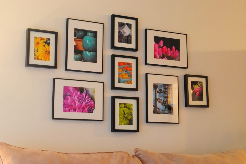 Gallery Wall (and How To Hang Ikea Ribba Frames) | Gallery wall ...