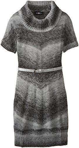 Amy Byer Big Girls' Belted Cowl Neck Sweater Dress, Grey, 7 Amy ...