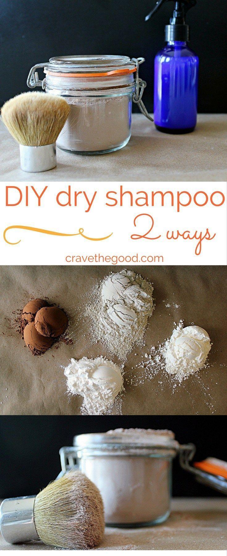 Dry Shampoo - 2 Ways. Homemade dry powder shampoo and spray dry shampoo that really works, at a fraction of the cost!   cravethegood.com