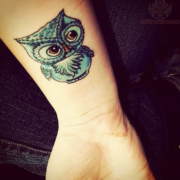 Small Owl Tattoos | Blue Owl Tattoo On Arm | tattoo i want ...