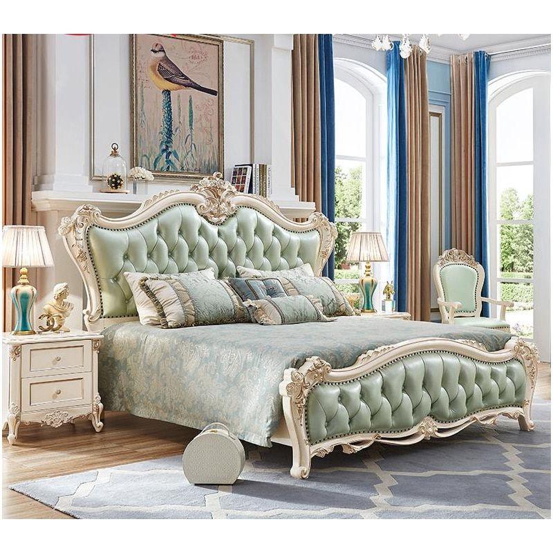 king size solid wood handcarved antique bedroom furniture