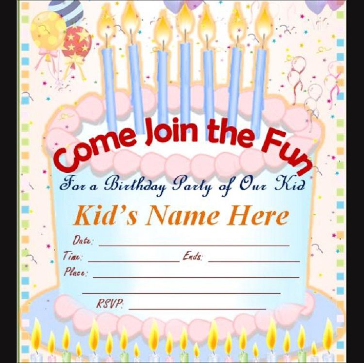 Make Birthday Invitations Cards Online For Free