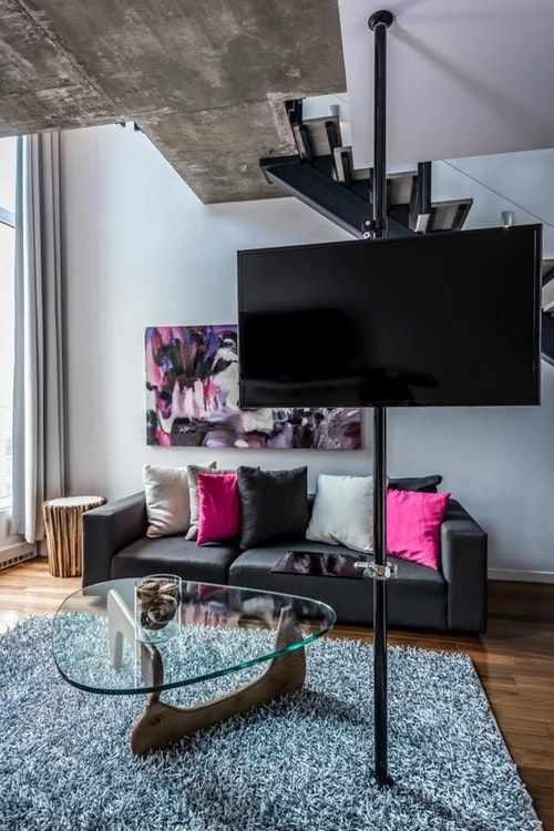 Pole Modern Tv Stand System In Montréal Québec Apartment Therapy Marketplace Classifieds