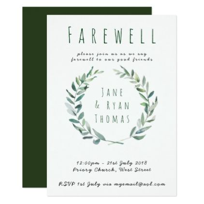 leaving party invites