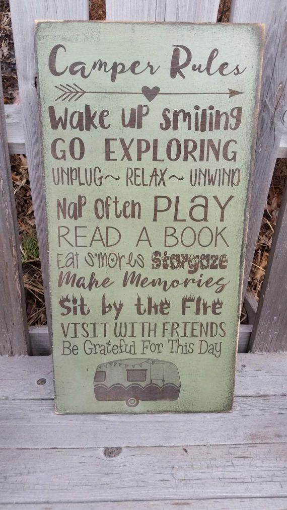 Camping Rules Sign personalized Camper Sign Custom by
