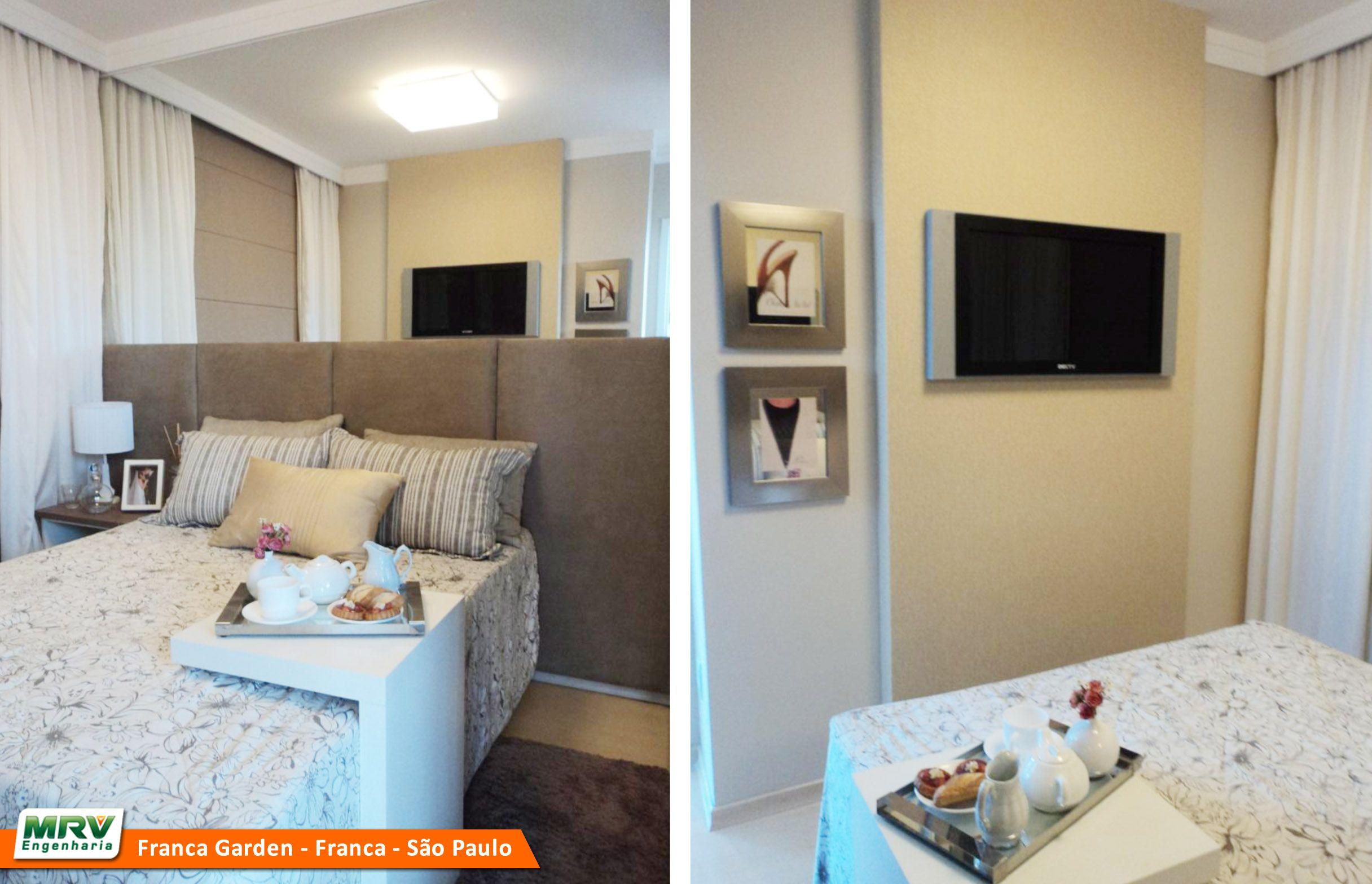 Apartamento Decorado 2 Quartos Do Parque Attualle No Bairro Jardim  ~ Quarto Casal Simples E Barato E Apartamento Quarto E Sala