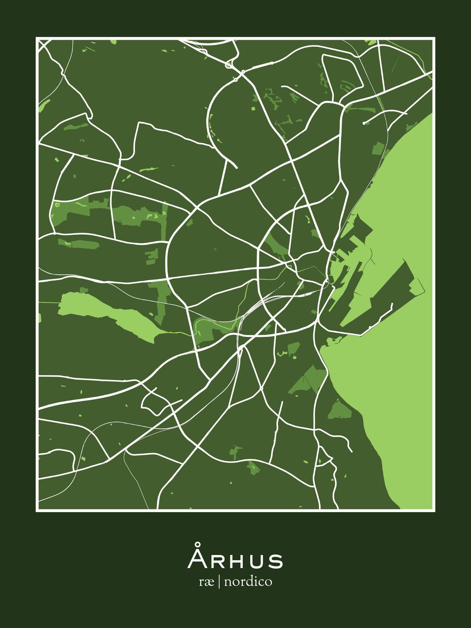Aarhus Denmark Map Print Denmark Pinterest Denmark map