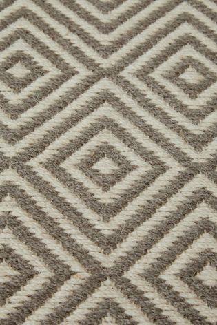 Wool Diamond Geo Grey Rug From The Next Uk Online