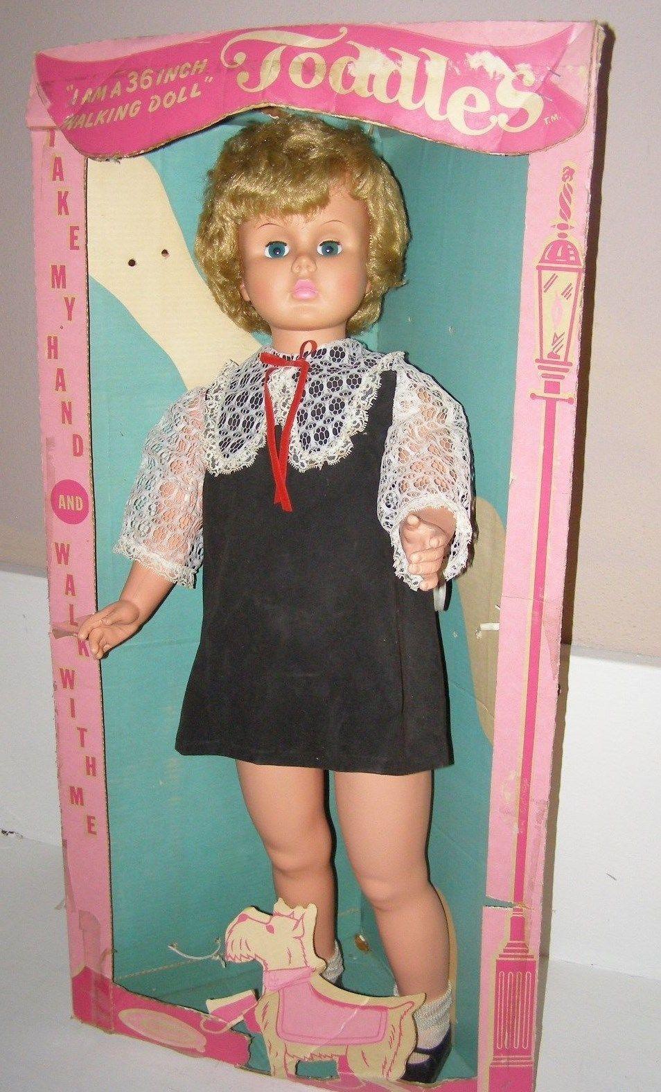 Vintage 36 Patty Playpal Like Walking Doll Uneeda Doll W Box Scotty Dog 1960 S Ebay Dolls Girl Dolls Retro Toys