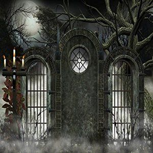 GladsBuy Scary Castle 10 x 10 Computer Printed Photography Backdrop Halloween Theme Background LMG-152