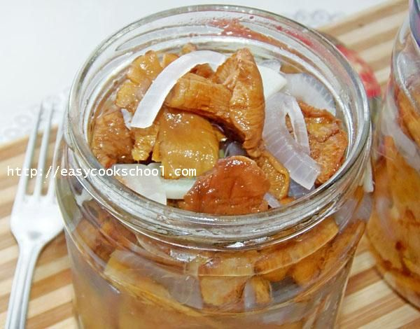 солёные лисички пошаговый рецепт с картинками