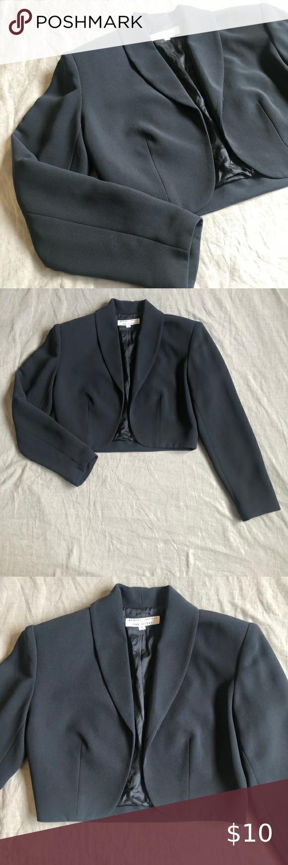Cropped Black Dress Jacket Size Small Andrea Polizzi For Rex Lester Vintage Cropped Dress Jacket I Got This At A Jacket Dress Black Dress Jacket Black Dress [ 1740 x 580 Pixel ]