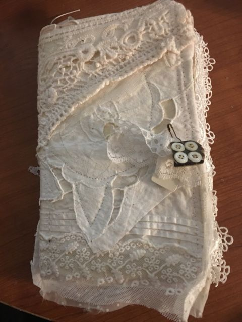 Mixed Media Lace Journal Junk Journal Glue Book Scrapbook Lace Journal Lace Ebay Shabby Chic Journal Vintage Journal Junk Journal