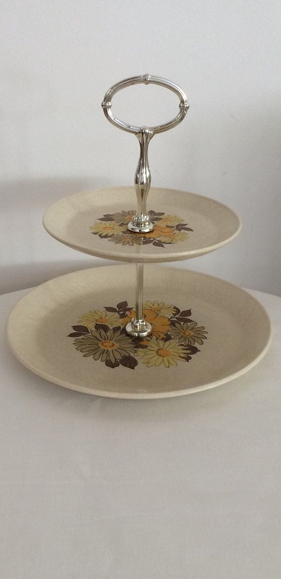 Johnson Of Australia Two Tiered Cake Stand By Modernlookvintage