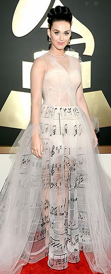 Katy Perry hits a fashion high note in Valentino at the 2014 Grammy Awards