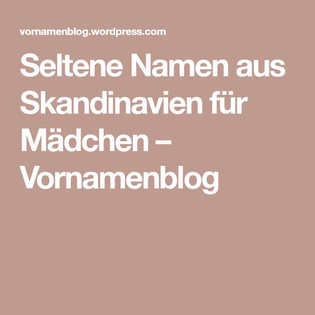 Namen Skandinavien