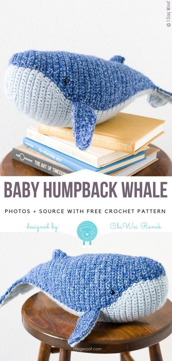 Baby Humpback Whale Free Crochet Pattern #crochetanimals