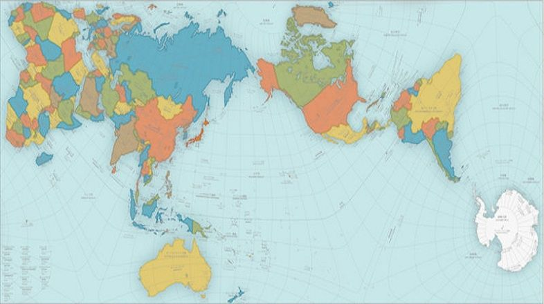 poster pinterest the most accurate map of the world hajime narukawa authagraph map that divides the globe into 96 triangles transfers them a tetrahedron and unfold it gumiabroncs Choice Image