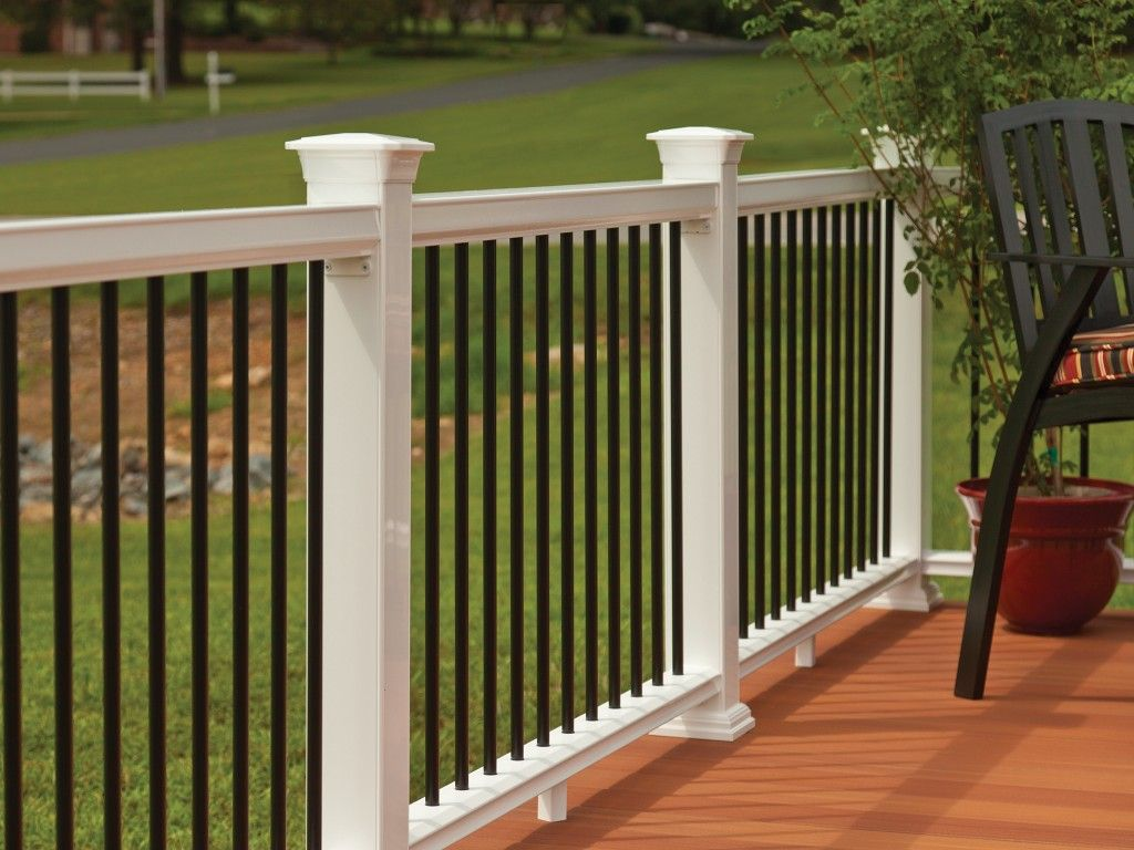 Best Horizon Railing In White Mission With Round Metal 400 x 300