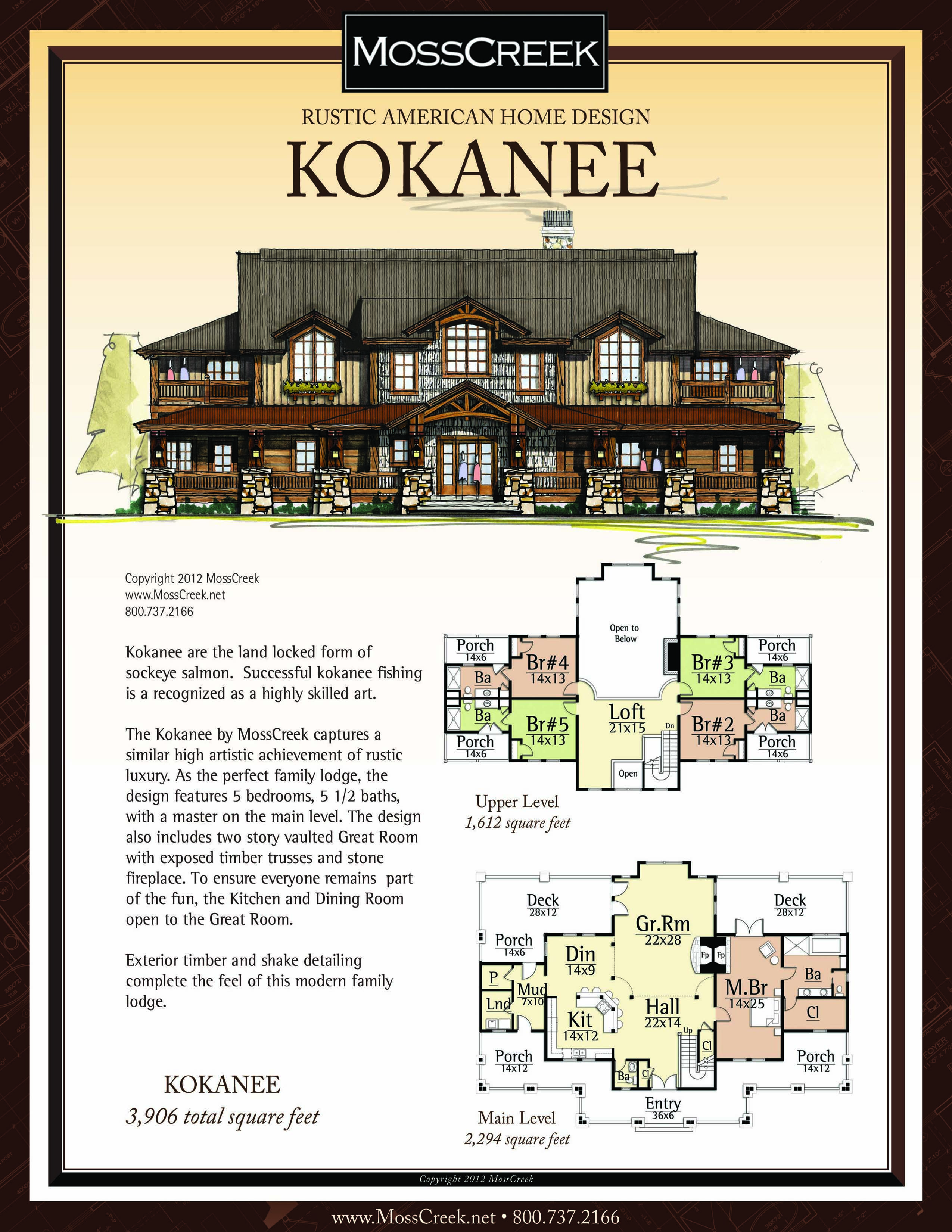 A Ready To Purchase 3906 Sf Home Plan From Mosscreek
