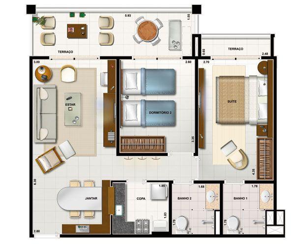 111 casa minimalista 80m2 plantas de casas com escada 15
