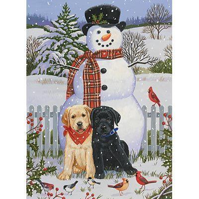 'Backyard Snowman With Friends' by William Vanderdasson