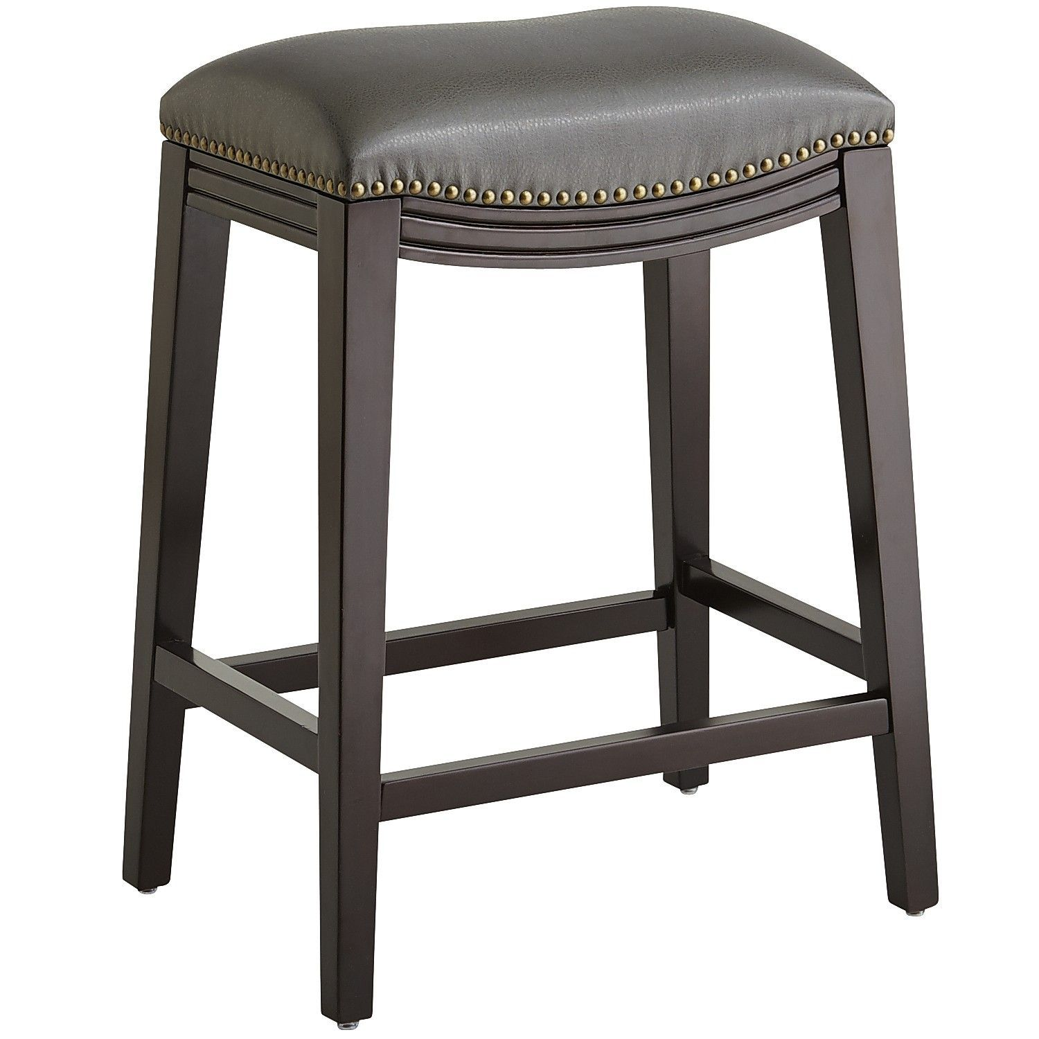Halsted Pewter Backless Counter & Bar Stool