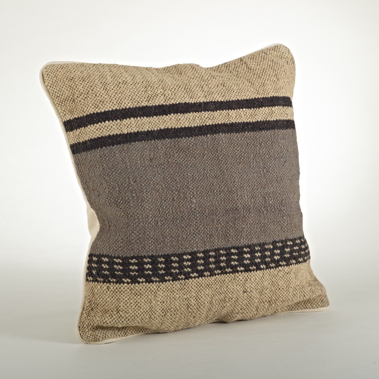 Saro Kilim Design 20 inch Throw Pillow