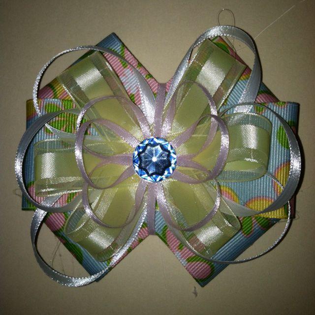 Pastel Flower Bow
