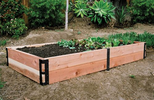 95 corner brackets for a raised garden bed pretty smart for Pretty raised beds