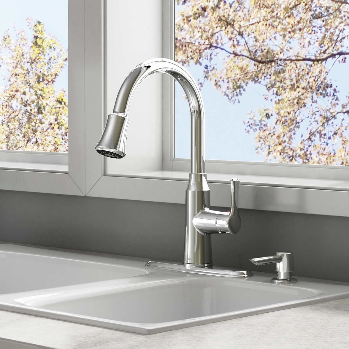 Costco American Standard Danao Pull Down Kitchen Faucet 120 Back Ordered And Is Expected To Ship Between July 27 31 Kitchen Faucet Faucet American Standard