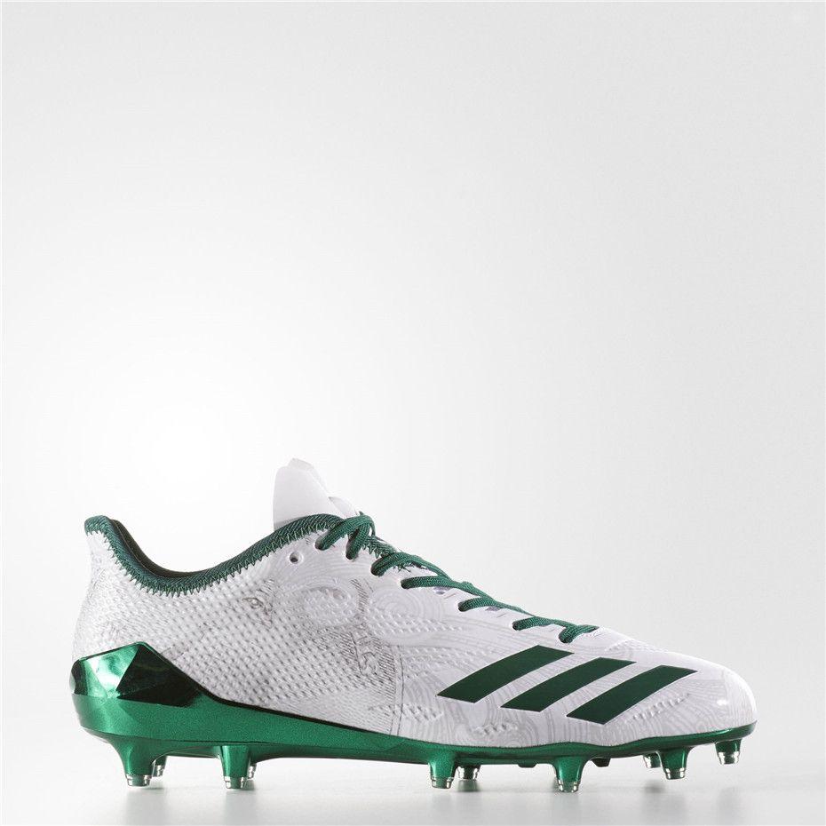 on sale aa0ce b4cb4 Adidas adizero 5-Star 6.0 Cleats (Running White   Dark Green   Dark Green)