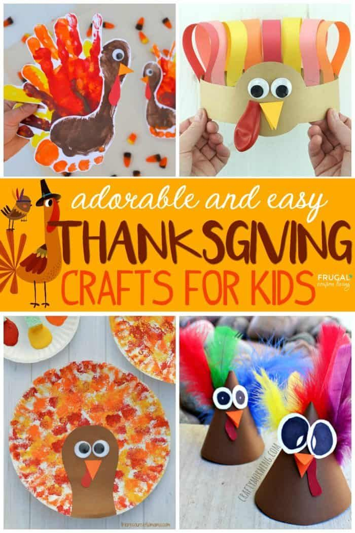 Easy Thanksgiving Crafts for Kids Easy Thanksgiving Crafts for Kids | Preschool Fall Crafts including pilgrims, turkeys, leaves, harvest vegetables and more.