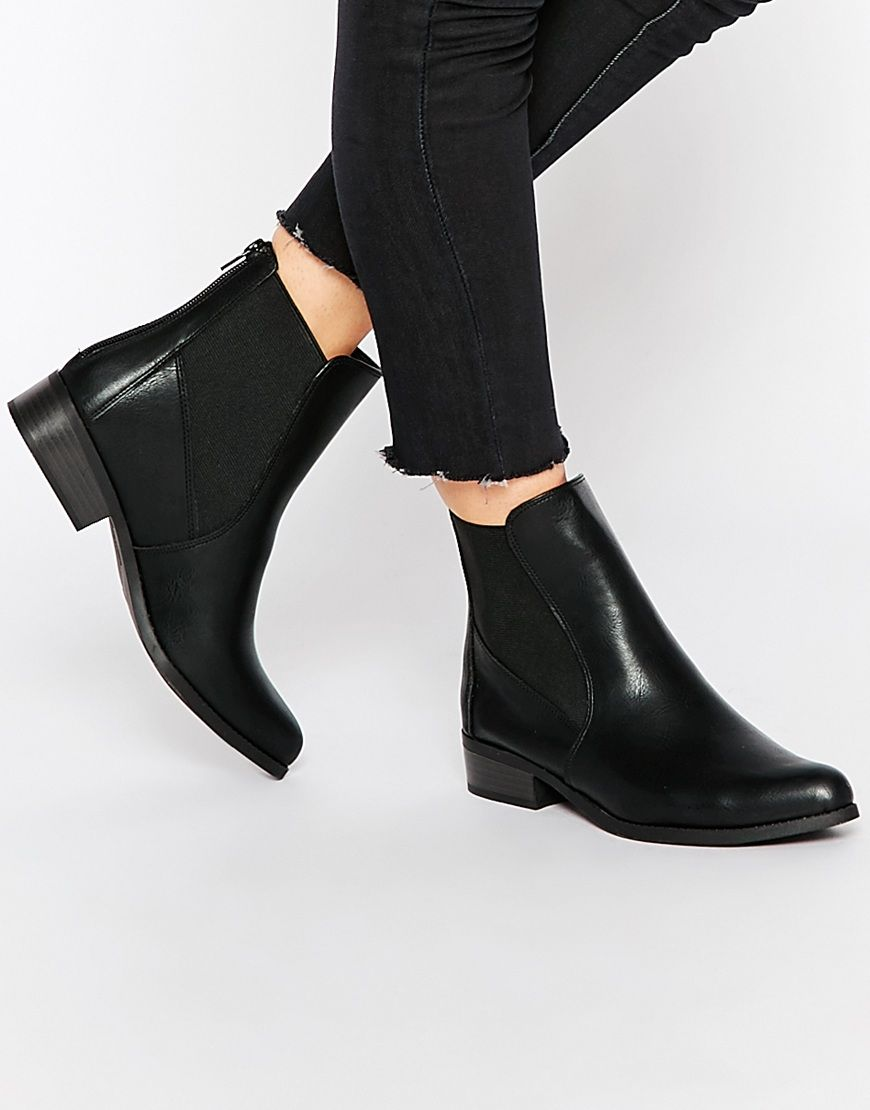 Connu Image 1 of New Look Flat Chelsea Boots | Shoes | Pinterest | Flat  HG29