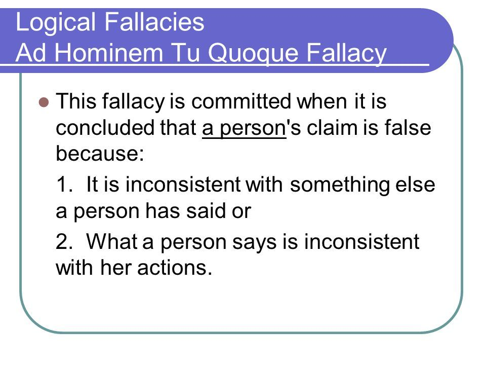 Logical Fallacy What About Yahoo Image Search Results Critical