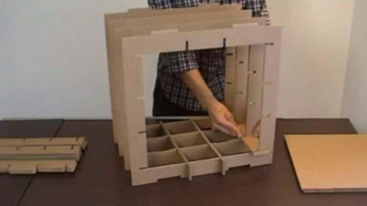 Stri Cube Etagere En Carton Mobilier En Carton Meuble En Carton