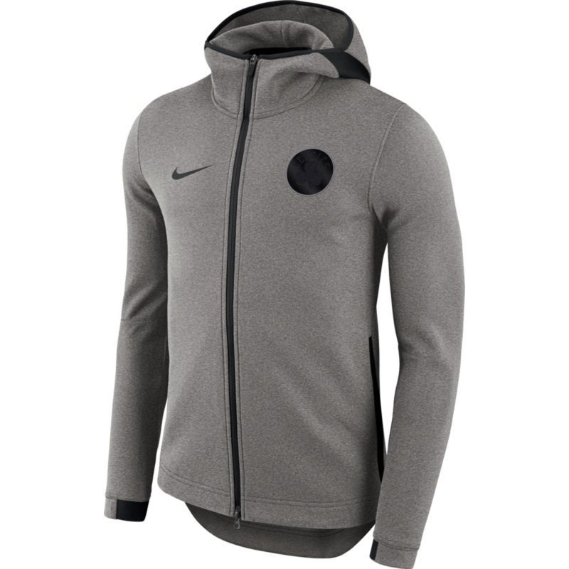 fb0fe7bd2e6b Nike Men s Boston Celtics On-Court Grey Dri-FIT Showtime Full-Zip Hoodie