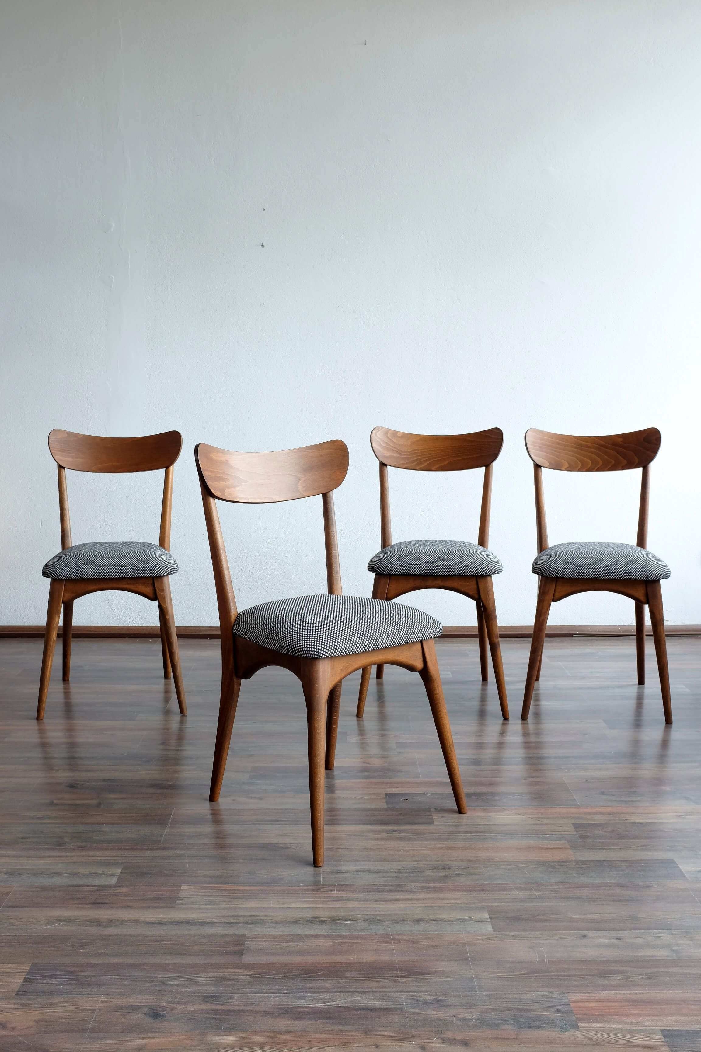 Set of 4 Danish Style Dining Chairs