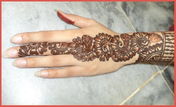 Mehndi Designs Simple Arabic Style : Simple and easy mehndi designs for children google search