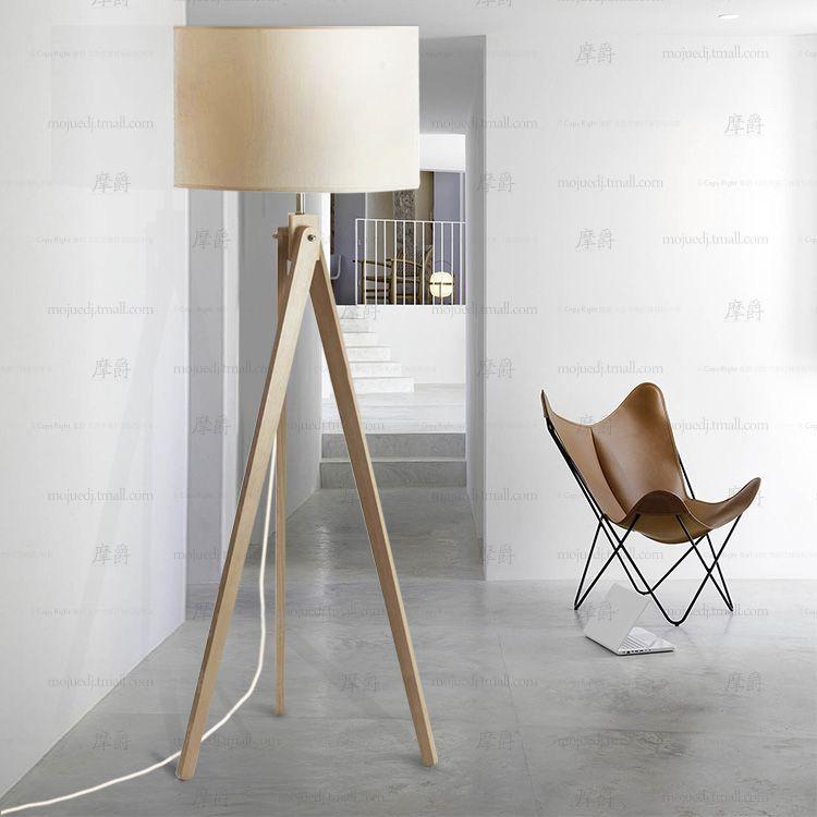 Contemporary tripod wood floor lamp european cloth abajur for contemporary tripod wood floor lamp european cloth abajur for bedroom original design linen lamparas minimalist mozeypictures Choice Image