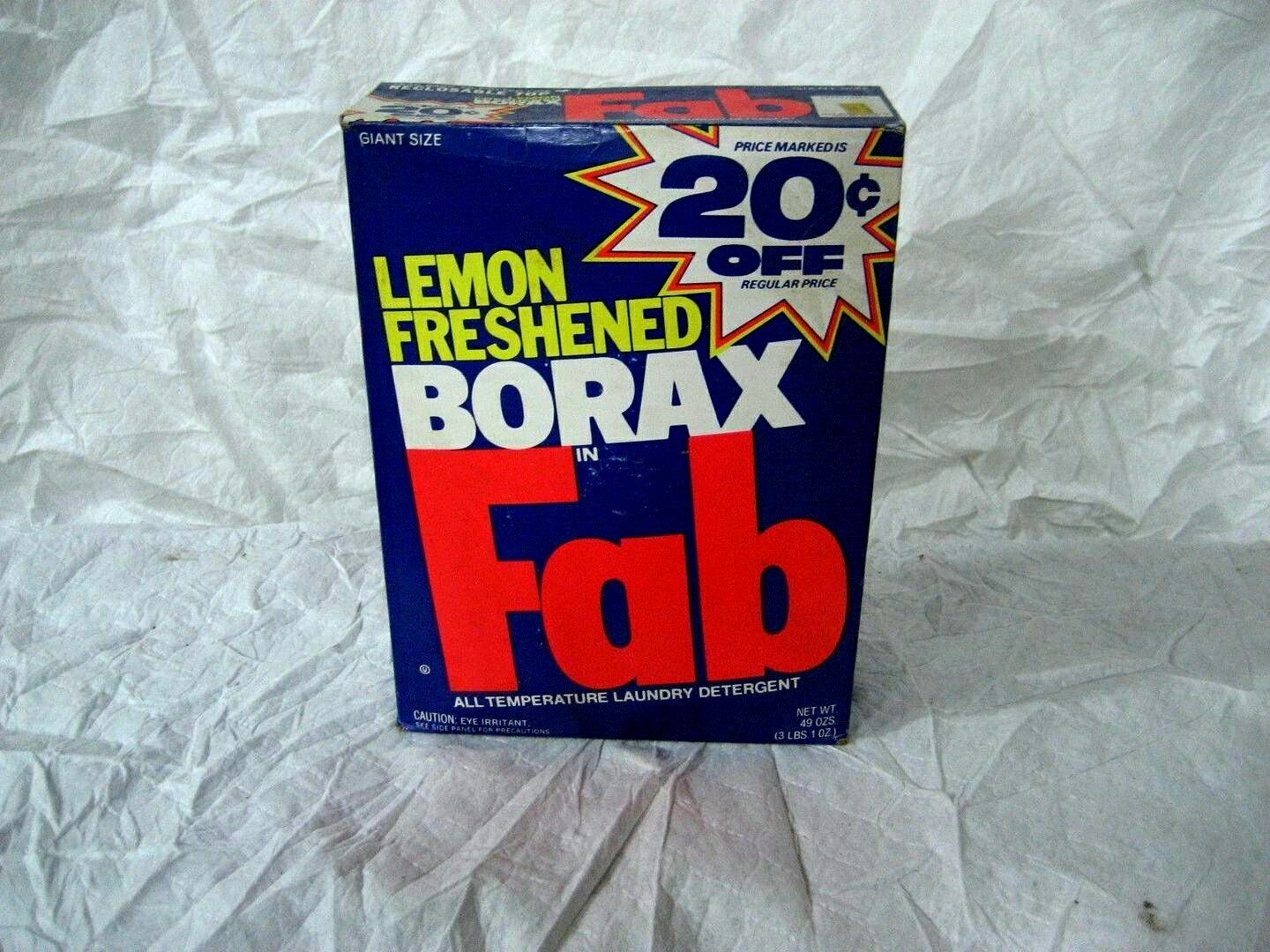 Oh Fab Laundry Detergent Box 1970s Early 1980s Fab Laundry