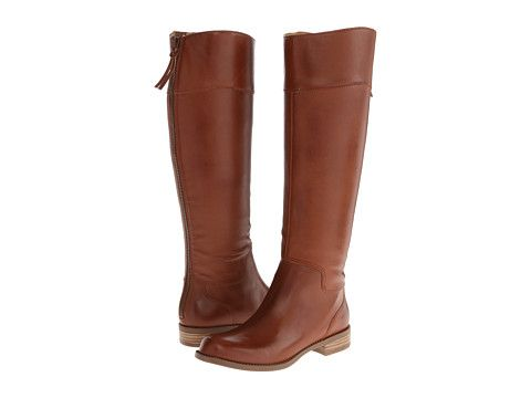 Nine west counter dark natural leather at 6pm.com. Womens Brown Leather  BootsDark ...
