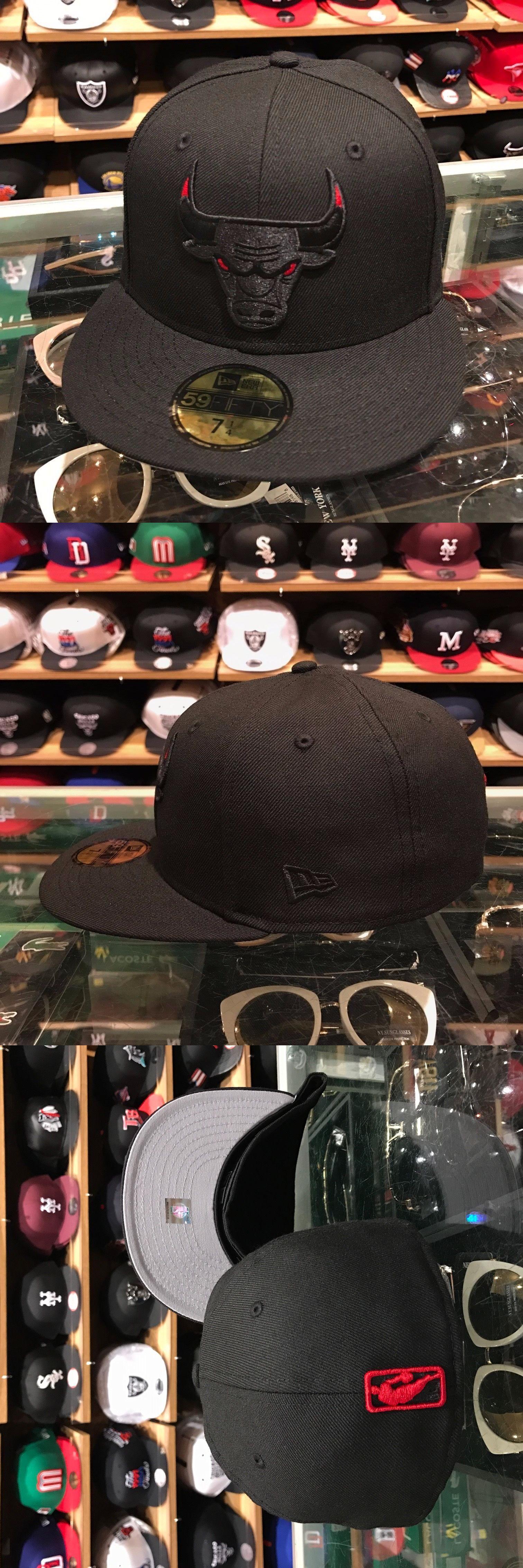 9e7e3856147 ... coupon code for hats 52365 new era chicago bulls fitted hat black red  eye regular logo