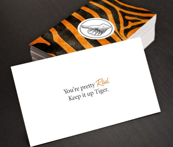 Cheap Stocking Stuffer Gag Gift Cards Rad Tiger Funny