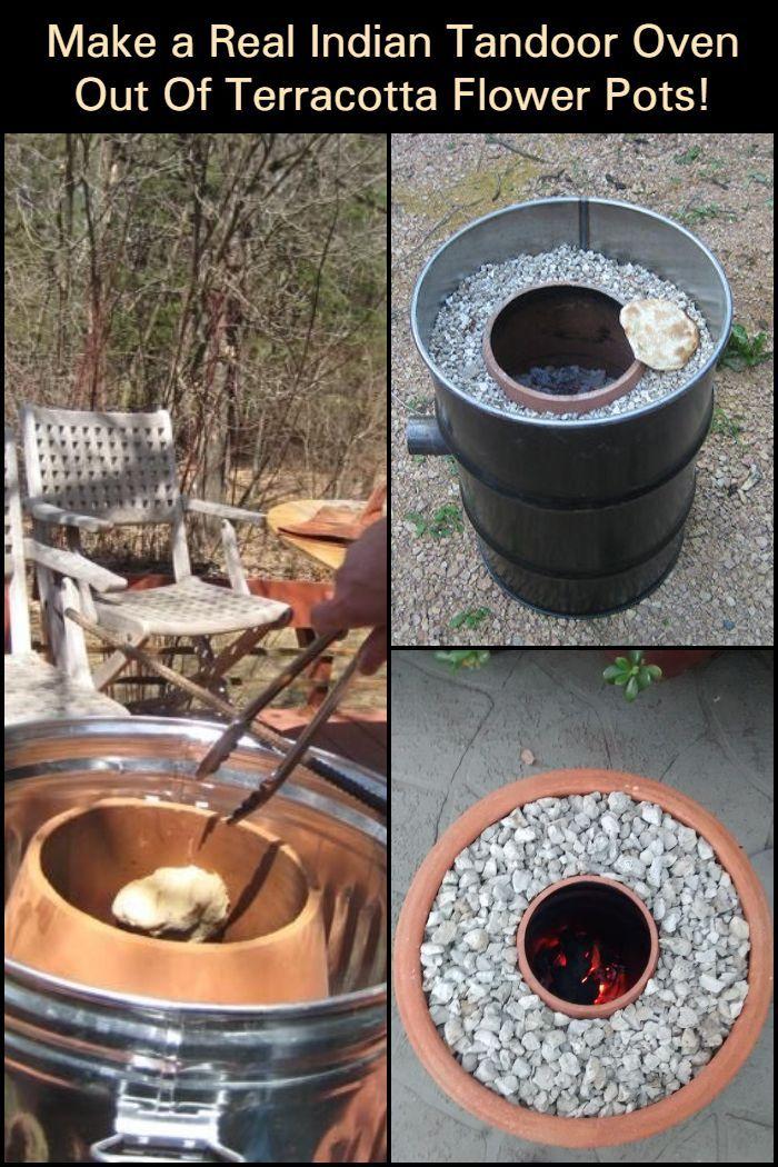 Make your own tandoor oven out of flower pots! Tandoor