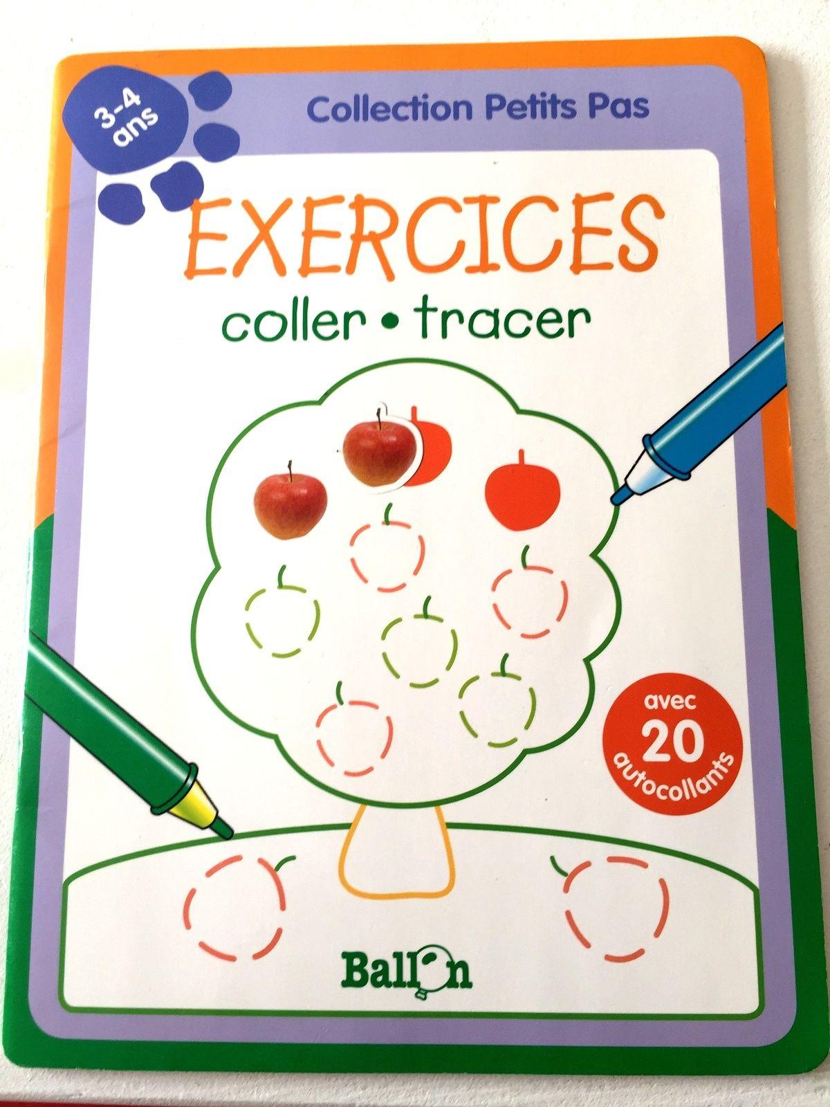 Comment Coller De L Ardoise cahiers d'exercices effaçables d'apprentissage graphisme