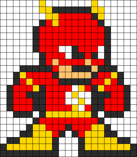 Flash Perler Bead Pattern Bead Pattern Could Be Used As A