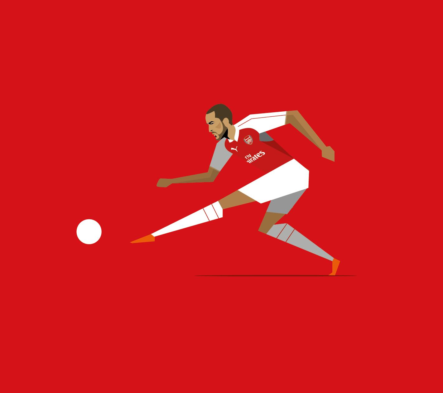 """다음 @Behance 프로젝트 확인: """"Arsenal FC commissions""""…"""
